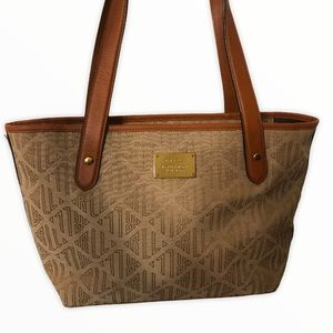 Ralph Lauren signature monogram canvas tote bag